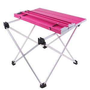 Outdoor Aluminium Folding Picnic Camping Desk Table with Convenient Carry Bag Camping Furnishings