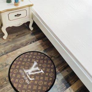 60 * 60 Motif ronde Accueil Tapis INS Mode Imprimé Chambre Tapis tendance antidérapante Thicken Motif Tapis de bain