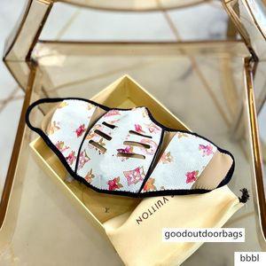 S / M ont Fashion Box célèbres Masques Designer Luxury Living Masques anti-poussière Tissu en coton PU cuir impression masque quotidien avec la boîte