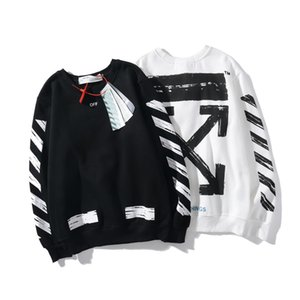 OFF diagonal stripes destroy the basic arrow OW shirt white loose sports casual men and women couple jacket