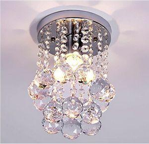Armatür kolye Tavan Lambası Kristal Aydınlatma Aydınlatma Modern parıltı LED Kristal top avize kristal lamba E27 / 26 Avizeler