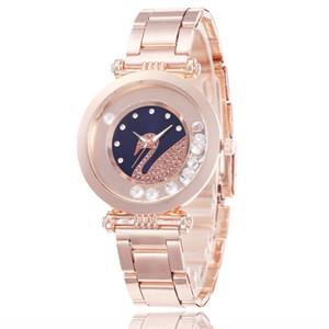 2020 new diamond inlaid Swan watch popular online red quartz watch hot selling in wechat 38