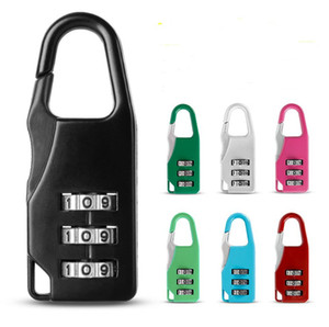 7styles 3 Mini Dial Digit Lock Number Code Password Combination Padlock Security Travel Safe Lock for Padlock Backpack Luggage Lock E22405