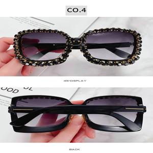 Diamond sunglasses frame New Luxury Sunglasses Women 2018 Brand Designer Ladies Oversized Square Sunglass Diamond Frame Mirror Sun Glasses r