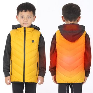 ZYNNEVA New Children's Electric Heated Vest USB Security Smart Warm Heating Clothing Outdoor Boy's Girl's Cotton Colthing GD2101