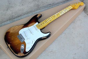 Tobacco Sunburst Vintage Style Electric Guitar with Ash Body,Yellow Maple Neck,,Can be Customized as Request