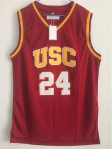 Brian Scalabrine # 24 USC Trojans University of Southern California 대학 농구 유니폼 더블 스티치 이름과 번호 빠른 배송