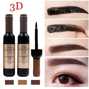 Rotwein Peel Off Augenbrauen färben wasserdichtes langlebiges Semi-permanente Tätowierung Brow Gel Black Coffee Grau Klassische Augen Make-up