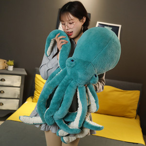 big simulation animal octopus plush toy cartoon octopus squid doll pillow for children girl gifts decoration 35inch 90cm DY50849