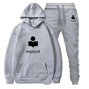 Marant Seti Hoodie 2020 En Yeni Elbise Erkek Takım Elbise Kadınlar Kapşonlu Moda Hip Hop Marka Giyim Sonbahar Kış Kapüşonlular WHI kapalı Coat Tops
