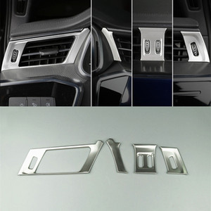 Car Console Air Vents Decorative Frame Cover Trim Stickers For Audi A6 C8 2019 A Pillar Air Outlet Strips Interior Accessories