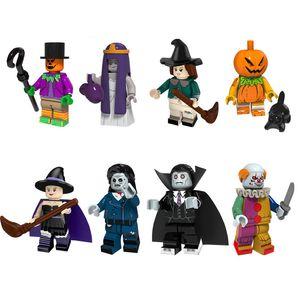 Yeni Geliş Mini Eylem Şekil Palyaço Joker Vampir Kabak Cadı Zombi Korkuluk Yapı Taşları Cadılar Bayramı Hediyelik Oyuncak İçin Çocuk Çocuk