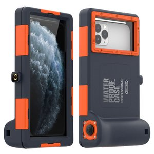 Cas de téléphone étanche pour iPhone 11 Pro Dive Photo Video Case pour Galaxy et iPhone Série Caisson professionnel Boîtier de protection