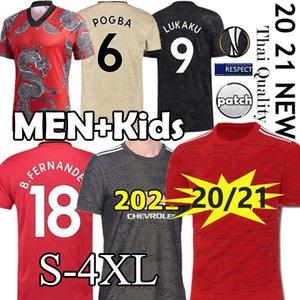 UTD (20) (21 개) 유니폼 남자 + 아이 키트 연합 2020 2021 FC 맨체스터 RASHFORD B. 페르난데스 POGBA 축구 유니폼 무술 축구 유니폼 셔츠