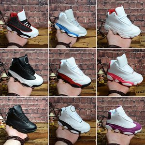Hot 13s Kids Basketball Shoes Children Outdoor Sports Gym Red Chicago DMP Black Pink Boys Girls 13 Athletic Sneakers Size 28-35
