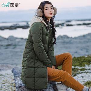 INMAN spessi lunghi Duck Duck giù donne vestono Down Jacket inverno