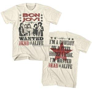 Official Bon Jovi Mens T-Shirt Wanted Dead Or Alive Tour Album Rock Merch