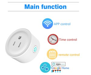 Mini US Wifi Plug Remote Control Smart Wifi Socket Work with Alexa Google Home