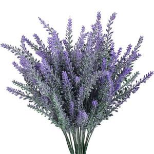 4 pezzi Romantic Provence lavender flower decoration silk artificial flowers Cereali Modellazione ornamentale di piante acquatiche