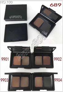 Make-up-Duo-Augenbraue-Schatten-Puder Matte Erde Zwei Farben Lidschatten Langlebige natürliche Zweifarbenpalette