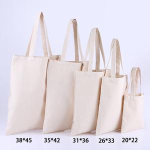 Le borse di stoffa pianura della drogheria di formato standard in bianco riutilizzabile in tela di cotone durevole fai-da-te con tessuto di supporto possono essere personalizzate