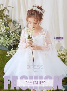 2020 kurze Schmetterlingshülse einfach gut aussehende Mode Schmetterling handgemachte Blume peng peng Rock Host Mädchen Klavierspiel Kleid