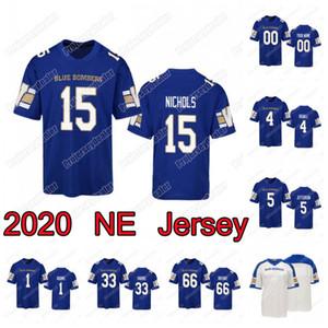 2020 Winnipeg Blue Bombers 15 Matt Nichols 33 Andrew Harris 4 Adam Bighill 5 Willie Jefferson 66 Stanley Bryant Darvin Adams Jersey