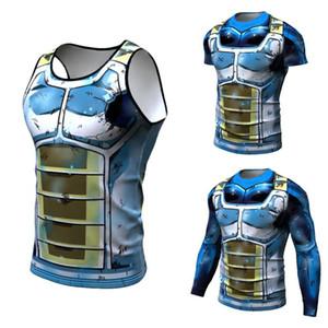 Dragon Ball 3D T-shirt des hommes Tshits Anime T-shirt Comics Tops Compression Goku Ball Z T Fashion 2018 Vegeta Camiseta ZOOTOP OURS