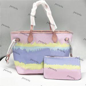 Pastel Rose Designer fourre-tout avec poche assortis pour le luxe Sac à main Escale Fourre-tout pour la vente Tie Sacs Dye Mode