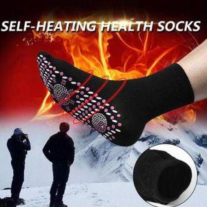 Auto-aquecimento Magnetic Meias Turmalina Magnetic Therapy confortável inverno quente Massagem Meias Unisex Inverno Quente HX1114