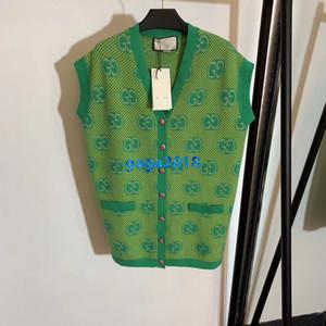 haut de gamme de femmes filles motif tricot cardigan veste veste chandail lettre de verrouillage à rayures sans manches maille design de mode tops de luxe
