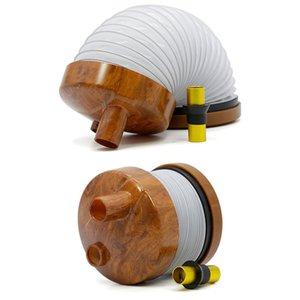 1xpcs Bukket pipe пластиковые растягивающиеся трубки для курения табака гравитационный Бонг против стеклянных бонгов гибкий деревянный цвет синий и белый фарфоровый цвет