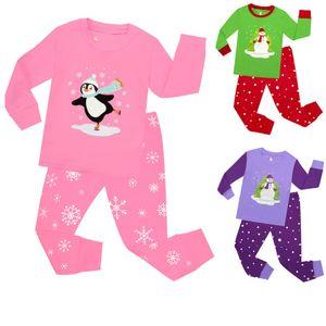 2018 ragazze vestiti di Natale Set di bambini 2pc gli indumenti da notte del bambino di natale pigiami delle ragazze Pigiama Pigiami Bambini di natale