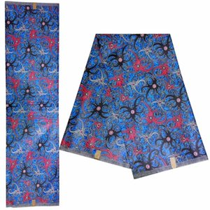 أزياء نسيج أفريقي مضمونة Java Wax fabric 100 ٪ قطن 6 ياردة للملابس أنقرة كتلة يطبع أقمشة الشمع! DF-4558