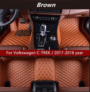 Para Volkswagen C-TREK / año 2017-2018 Interior del coche Foot alfombra antideslizante Protección Ambiental insípido no tóxico alfombra del piso