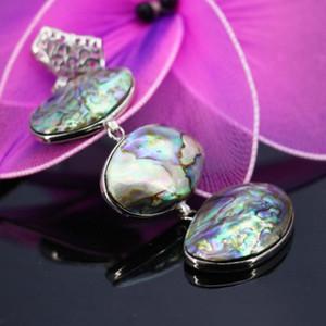 26x38mm naturales abalone seashells colores paua Shell Beads Stones DIY joyería pendiente que hace 11.11 artesanía