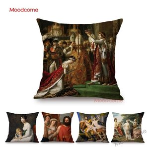 French Painter Jacques David Rococo Aestheticism Famous Oil Painting Greek Myth Art Decorative Throw Pillow Case Cushion Cover
