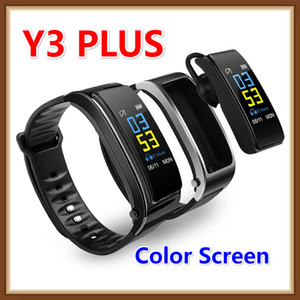 Y3 Plus Smart Bracelet Passometer Heart Rate Monitor Bluetooth Watch Man Sport Watch With Bluetooth Headset Smart Watch Color screen