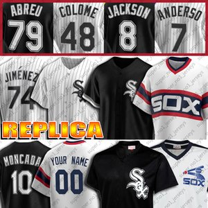 8 Bo Jackson Jersey 10 Yoan Moncada jerseys 35 Frank Thomas 74 Eloy Jimenez 72 Carlton Fisk Jersey 7 Tim Anderson Custom Jersey Baseball