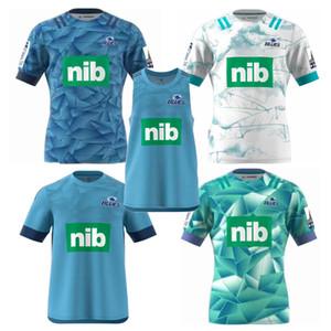 새로운 2020 BLUES 슈퍼 럭비 저지 훈련 유니폼 국가 럭비 리그 셔츠 뉴질랜드 블루스 성능 티 러닝 셔츠 크기 S-3XL