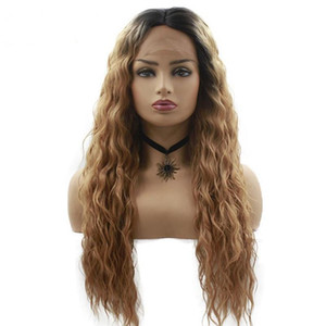 Lace Front Wigs for Women Best Synthetic Hair Wavy Wig Long Kinky Curly Synthetic Wigs Lace Front Wig for Women Ombre Wig Brown
