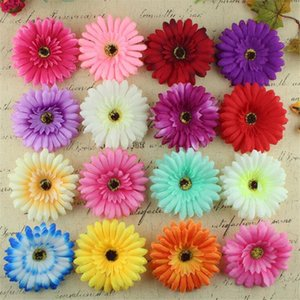 5PC Artificial DIY Large Gerbera Flower Head Changeable Suppliers Home Party Tree Decor Photo props silk flower Headwear Wedding