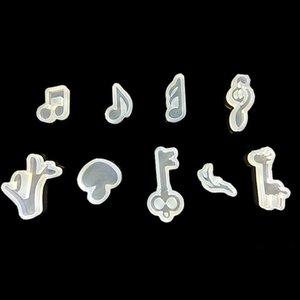 DIY El Yapımı Müzik Not Sevimli Mantar Fondan Kalıp BH3174 TQQ Yapımı Yeniden kullanılabilir Nota Kalıplar DIY Takı Silikon Kalıp Hayvan Takı
