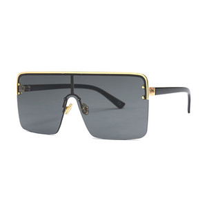 Moda overasized óculos Novas mulheres óculos de sol fatiada 2020 óculos de sol moda retro dupla utilização arrefecer óculos de lente clara