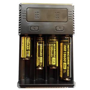 원래 2017 새로운 I2 I4! Nitecore 새로운 10340 10440 10500 12340 12500 12650 16650 등을 위해 충전 LED 디스플레이와 배터리 충전기를 I2