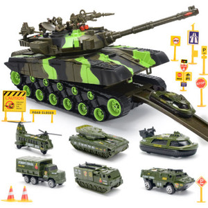 Oversized tank toy car children music fall resistant armored vehicle military model boy boy alloy car