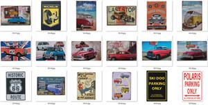 Placas de metal Placas de lata de carro andar de moto loja Reparação Poster Vintage Motor placas de ferro decorativa Bar Club decoração da parede 569 Designs