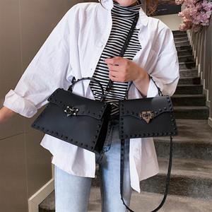 Bolsos de las mujeres de lujo de PVC transparente bolsas de diseñador 2020 Sac principal de la PU de cuero Crossbody bolsos del mensajero de las mujeres del bolso de hombro W431