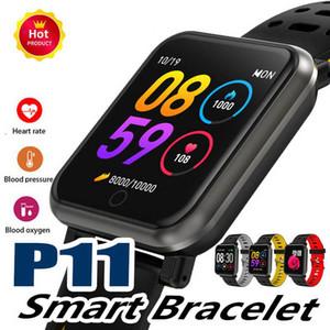 P11 Sport Smart Watch Impermeable Hombres Mujeres Smartwatch Fitness Tracker Monitor de ritmo cardíaco Reloj inteligente Monitor de sueño Podómetro