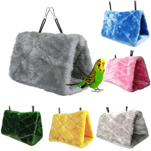 Pet Parrot Bird Hammock Hanging Cave Cage Snuggle Hut Tent Happy Bed Bunk Toy